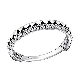 Cœur - en argent Sterling 925 empierré anneaux - W28177X