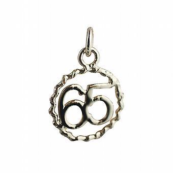 9ct золота 18 мм № 65 в витая проволока круг кулон или очарование
