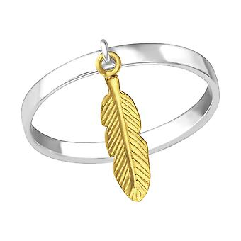 Hanging Feather - 925 Sterling Silver Plain Rings - W33833x
