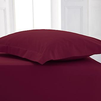 Percale Polycotton Flat Sheet Super King Berry