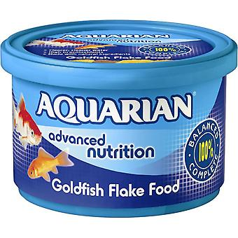 Aquarian Goldfish Fresh Water Fish Flake Food Complete Cold Water Fish Food 50g