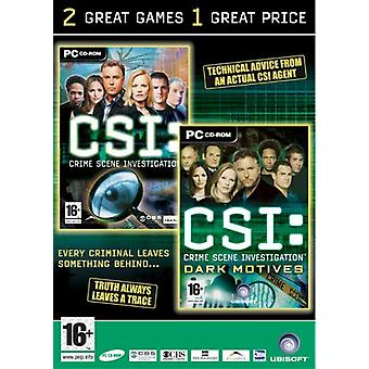CSI Brottsplats utredning dubbel Pack (PC)-nytt