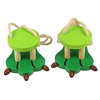 Bigjigs Toys Wooden Crocodile Footwalkers Walking Walker Stilts Kid's