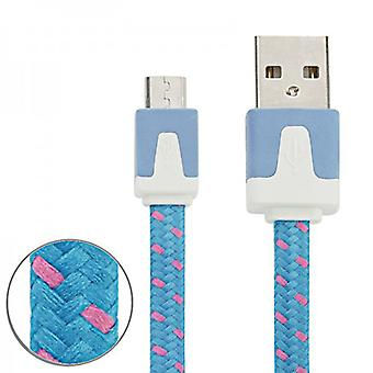 1m USB data and charger cable blue for all Smartphone and Tablet micro USB Accessories