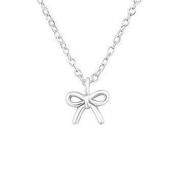 Tie Knot - 925 Sterling Silver Plain Necklaces - W18529x
