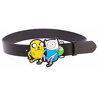 ADVENTURE TIME sort bælte med Jake og Finn 2D spænde, medium (BT0MW8ADV-M)