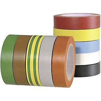 """הלרמאטטון 710-00146 710-00146 סרט חשמל Flex 15 אדום, אפור, צהוב, ירוק, כחול, כתום, לבן, חום, שחור (L x W) 10 m x 15 מ""""מ 10 מחשבים (עם)"""