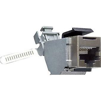 RJ45 Connector CAT6. Socket, straight Number of pins: 8P8C Y-CONJACK-16K Metal Yamaichi Y-CONJACK-16K 1 pc(s)