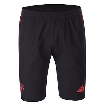 2018-2019 Man Utd Adidas Woven Shorts (Black)