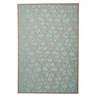 Outdoor carpet for Terrace / balcony contemporary Fiore Aqua 160 / 230 cm carpet indoor / outdoor - for indoors and outdoors