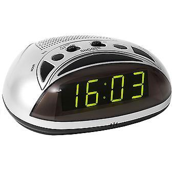 Atlanta 1136 alarm clock power clock silver snooze volume control digital alarm clock