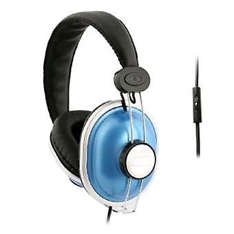 UMA - DJ Style Headphones with Handsfree Remote - Blue