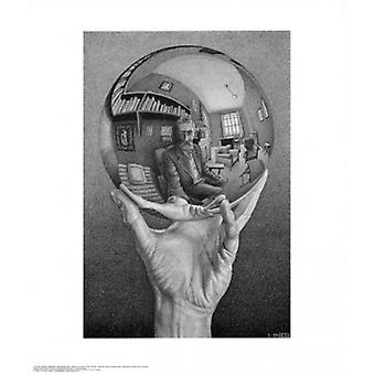 Hand with Globe Poster Print by MC Escher (22 x 26)