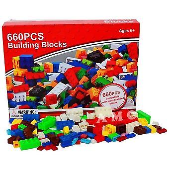Bloques ladrillos de construcción edificio niños aprendizaje diversión juguetes regalo 660 PC