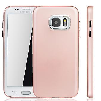 Samsung Galaxy S7 edge - étui de téléphone portable pour Samsung Galaxy S7 edge - mobile cas en rose rose