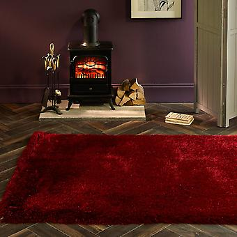 Tapetes de extravagância vermelho coxim tapetes liso/quase lisos