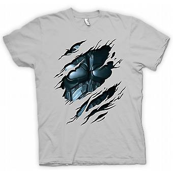 Herr T-shirt - Batman kostym - superhjälte slet Design
