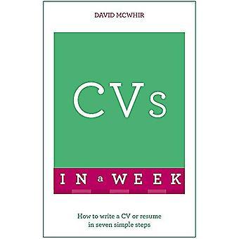 CVs i en vecka: Hur man skriver en CV eller meritförteckning i sju enkla steg