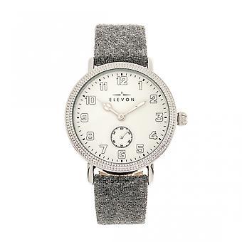 Elevon Northrop Wool-Overlaid Leather-Band Watch - Grey/White