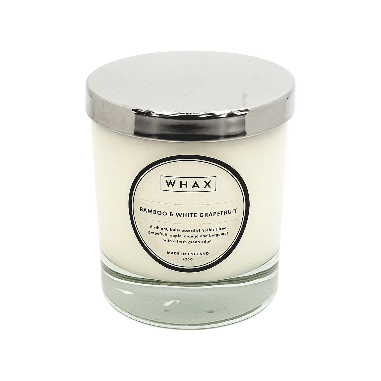 Bamboo & white grapefruit scented candle