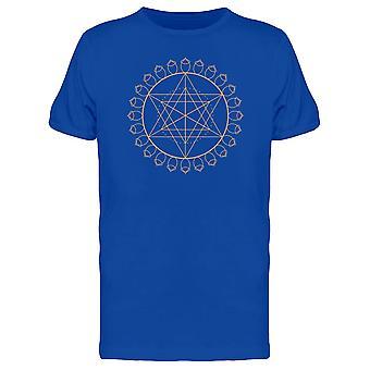 Goldene Geometrie Blume des Lebens T-Shirt Herren-Bild von Shutterstock