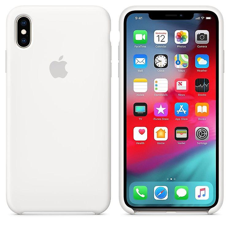 Original Packaging MRWF2ZM/A Apple Silicone Microfiber Cover Case for iPhone XS Max - White