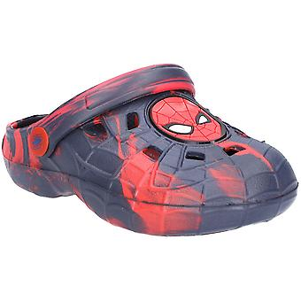 Leomil Boys Spiderman Lightweight Slip On Summer Clogs