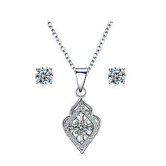 925 Sterling sølv dans vedhæng halskæde & Studs sæt - stil 2