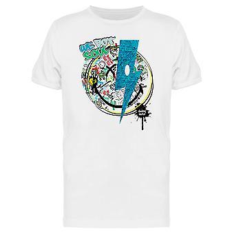 SmileyWorld Graffiti Blue Thunder We Got Soul Men's T-shirt
