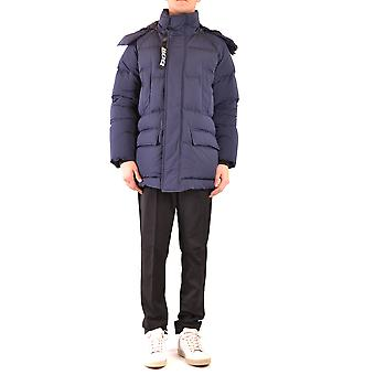 Add Ezbc193003 Men's Blue Nylon Outerwear Jacket
