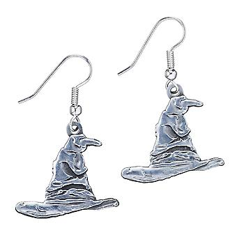Harry Potter Silver Plated Sorting Hat Drop Earrings