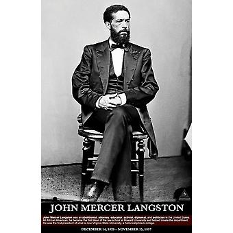 John Mercer Langston Poster Black History Print (11x17)