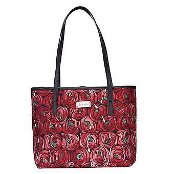Mackintosh - rose and teardrop shoulder tote bag by signare tapestry / coll-rmtd