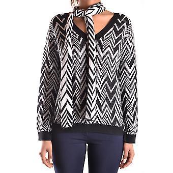 Devotion Ezbc363001 Women's White/black Wool Sweater