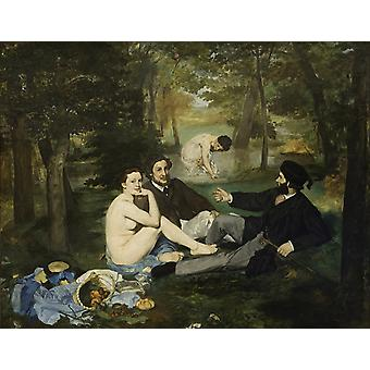 Luncheon on the Grass, Edouard Manet, 50x40cm
