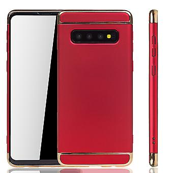 Samsung Galaxy S10 Plus Handy Hülle Schutz Case Bumper Hard Cover Rot