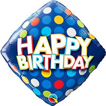 Qualatex 18 in de punten van de verjaardag Diamond folie ballon
