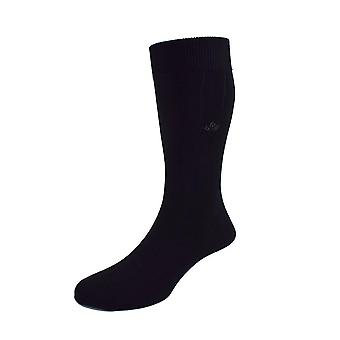 Sea island cotton socks – black