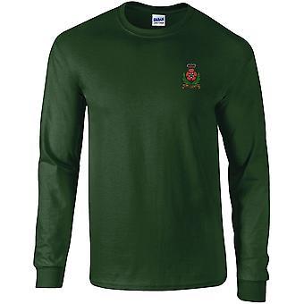 Intelligence Corps-licensierade brittiska armén broderade Långärmad T-shirt