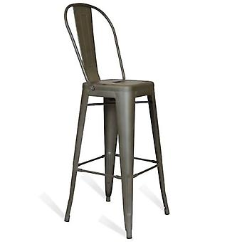 Kuovi Kuovi Metal Stool With Backrest (Furniture , Stools)