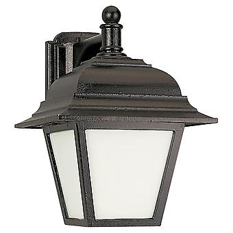 Sea Gull Lighting 89316PBLE-12 Bancroft 1-Light Wall Lantern Black