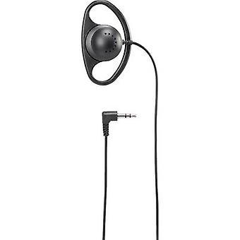 Basetech HK-1S Fones de ouvido na orelha clipe de orelha, Mono Black