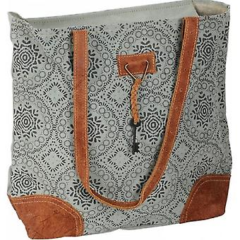 Grey Patterned Slouch Bag