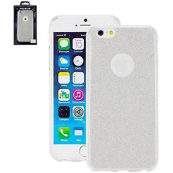 Perlecom Back cover Apple iPhone 7 Silver, Glitter effect
