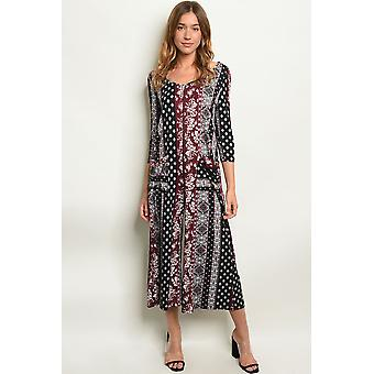 Womens multi print jumpsuit