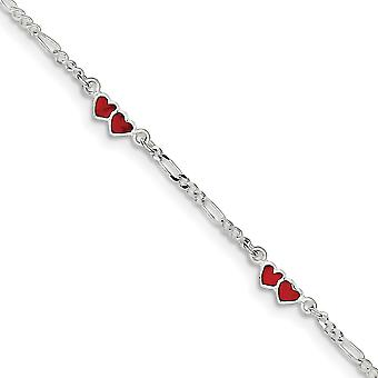 925 Ayar Gümüş Katı Emaye Cilalı Bahar Yüzük Çift Aşk Kalp Bileklik 6 İnç Istakoz Pençe