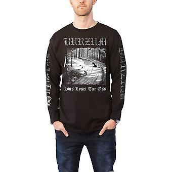 Burzum T Shirt Hvis Lyset Tar Oss band logo new Official Mens Black Long Sleeve