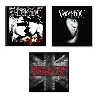 Bullet For My Valentine 3 x Fridge Magnet band logo new official Gift set