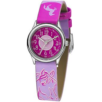 JACQUES FAREL Kids Wristwatch Analog Quartz Girl Faux Leather HCC 312 Horse