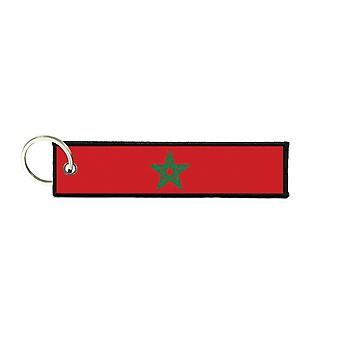 Port Cles Clef Cle Homme Homme Fabric Brode Prints Moroccan Morocco Flag